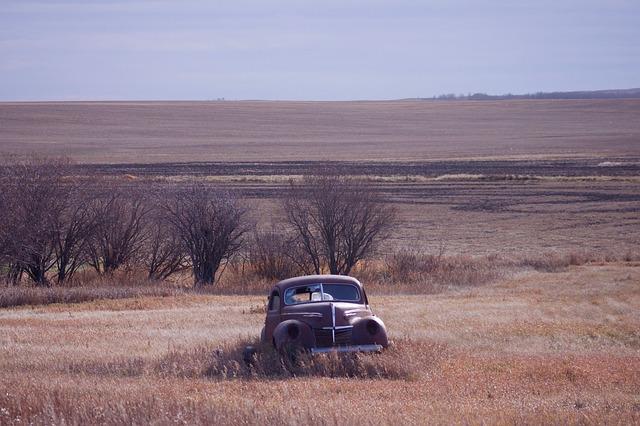 Car, Stuck, Old, Broken