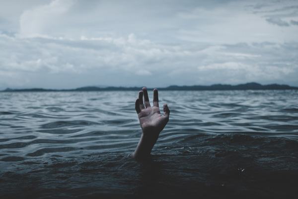 water, hand, drowning