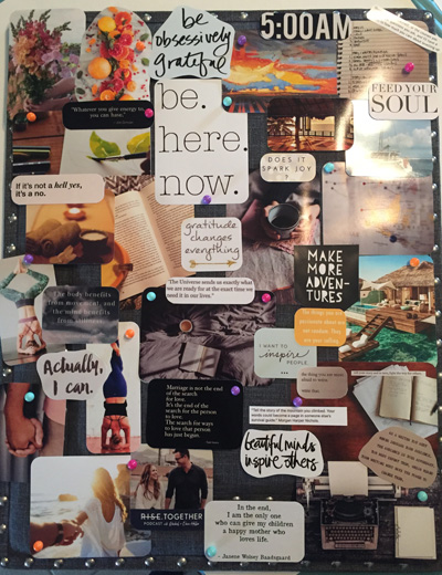 vision board, goals, progress, focus