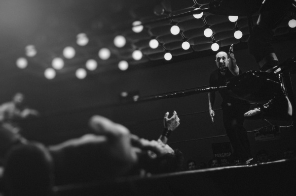 wresting, ring, mat, knockout, man, match