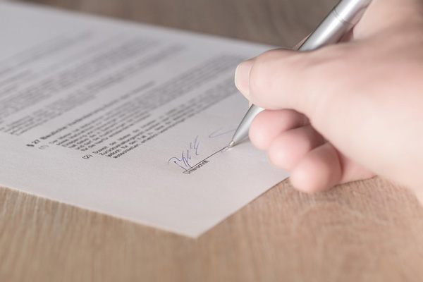 permission, signature, permission slip, writing, pen, hand, contract, approval